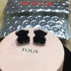 Tous Ónix Silver Earrings XL